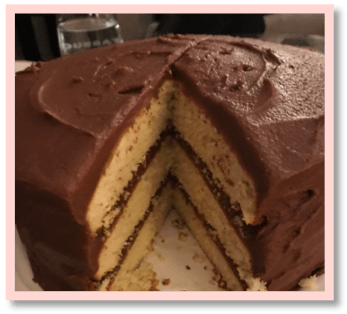 Grandma's Quick Cake with Chocolate Icing